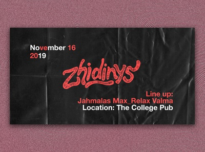 "Banner for a party ""Zhidinys"""