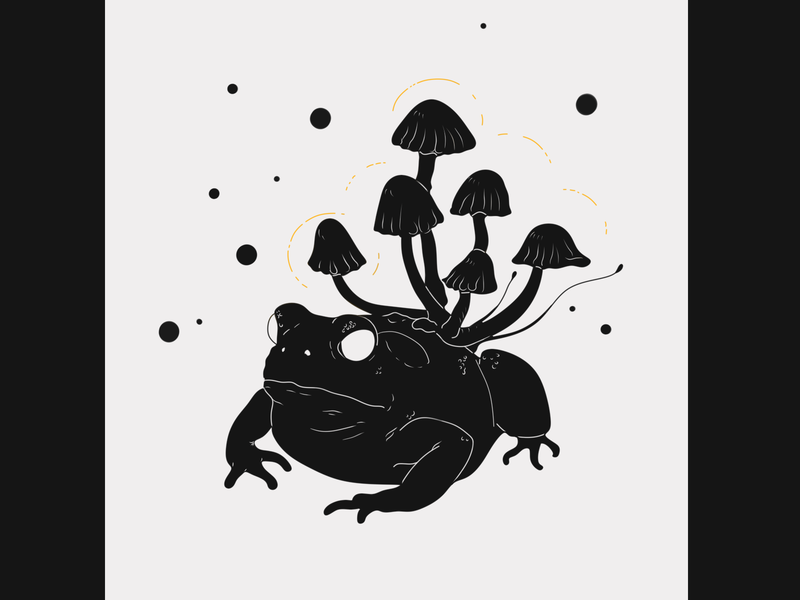 A Toad of Fun illustrator tattoo minimalist line art illustrations illustration graphic design drawing design dark art