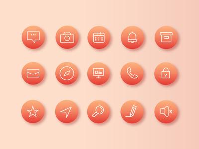 Flat icon set 1