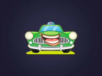 Car Illustration taxi car logo car illustration graphic design logo branding vector illustration