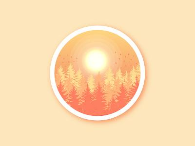 Landscape Forest Sunset vectorart vector illustration sunsets space landscapes forest sunset forest logo sunset landscape design landscape illustration landscape graphic design gradient vector illustration