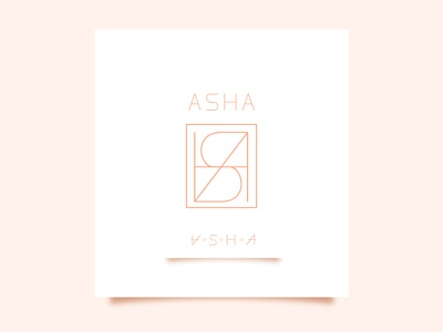 Asha Name Logo branding graphic design icon vector corporate branding corporate identity corporate design branding and identity branding concept branding design minimalist logo design minimalist logo minimal logo logodesign name tag name logo