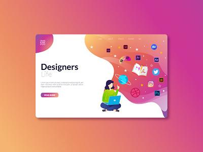 Designers life Ui ui design branding graphic  design gradient design icon design gradient ux ui graphic design vector illustration