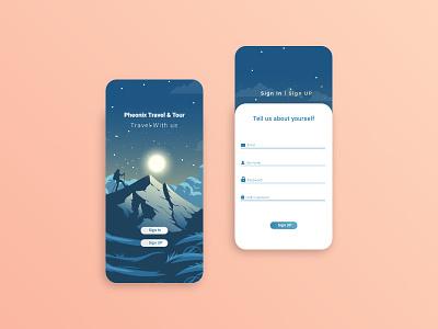 Sign up Ui icon design icon graphic design gradient sign in sign up ui design mobile app ui design mobile app design mobile app travel travel agency travel app ux ui