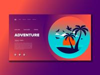 beach illustration web UI