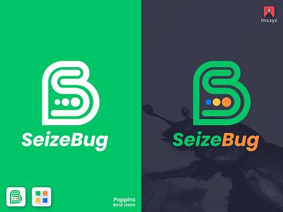 SeizeBug Monogram Logo tranding simple minimal financial design logo branding blue yellow green 2020 trend 2020 logo design