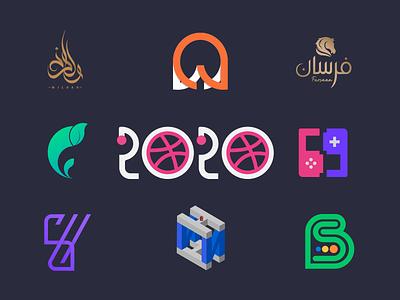 Top 8 of 2020 gradient bangladesh tranding minimal illustration financial logo design design logo 2020
