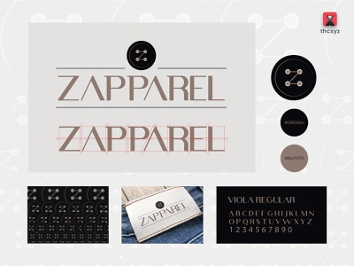 ZAPPAREL clean design icon fashion brand apparel logo flat bangladesh simple illustration tranding minimal financial branding logo design design logo