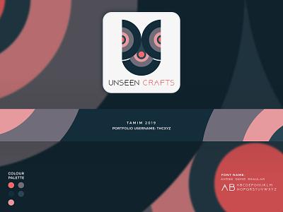 unseen crafts presentation craft simple minimalist minimal graphic flat financial design bangladesh tranding logo design logo branding 2019
