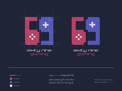 Gaming logo-69 gaming gaming gaming logo blue typography logo typography vector tranding illustration design simple minimal flat financial logo design logo 2020 branding