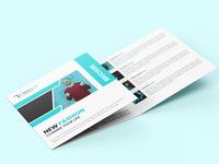Fashion Square Tri-fold Brochure Template