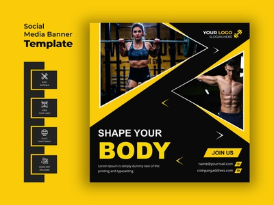 Fitness or Gym Instagram Post Template