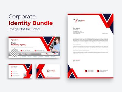 Corporate Branding Identity Template envelop corporate identity corporate company clean card business stationary branding brand black cover facebook cover