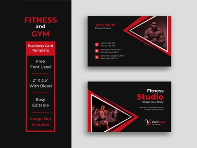 Fitness Business Card Template Design health gym business card gym flyer fitness business card crossfit card business card business bodybuilding advertisement advert