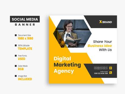 Digital Marketing Social Media Post Template digital marketing corporate social media post corporate flyer corporate banner corporate commercial business social media post business billboard banner agency