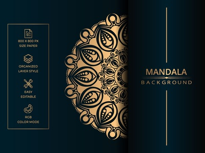 Luxury mandala background with golden arabesque style