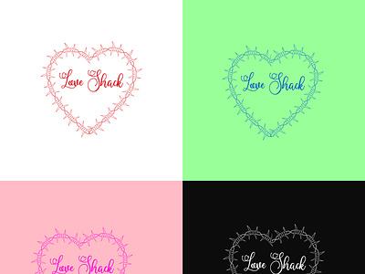 Love Shack Logo logodesign vector illustration branding typography minimal logotype logo design illustrator