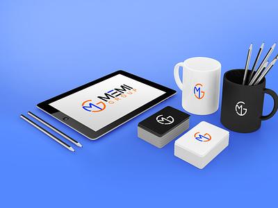 MG Memi Group Logo Design illustration vector branding typography minimal logotype logodesign logo illustrator design