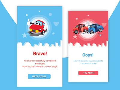 Pop Up Screen illustration ui design
