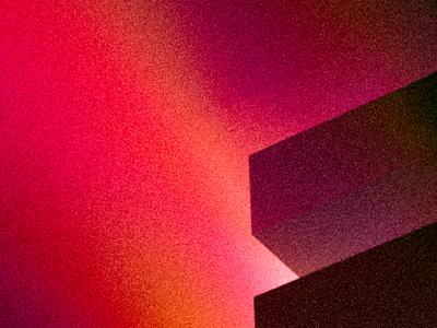 Forms, letters, space. fog space light form letter 3d