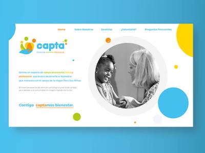 UI Website design for Capta Foundation