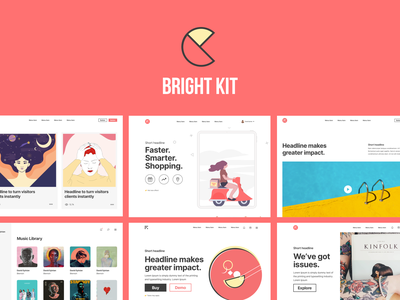 Hello Bright Kit 👋 uiux templates layout layout design layouts web design ui  ux ui kit design ui kits ui kit kit ux ui design uidesign ui