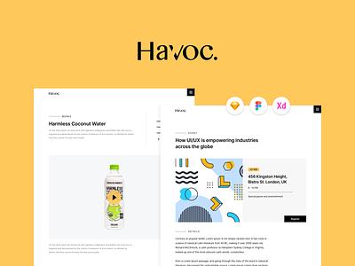 🔥 Havoc - The Agency UI Kit web design system layout design website design website design webdesign ux design ui kit ui  ux ux ui