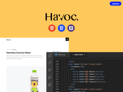 Havoc HTML template is here! ux design layouts design system ux design uxdesign layout design uidesign uiux ui ui kit theme boostrap html template agency