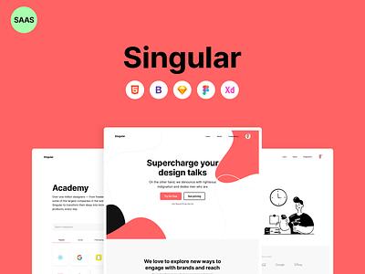 Singular ⚡️ SAAS Template ux design design ui  ux design system layout design ui kit ui design adobe xd figma sketch html bootstrap4 templates ui