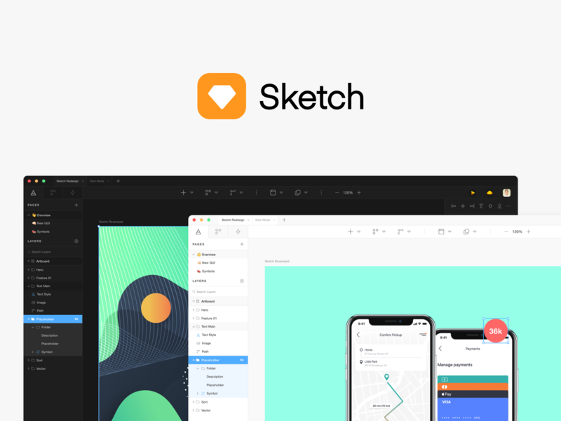 Sketch GUI Redesign (FREE) logo branding freebies freebie free ui kit ui  ux ux gui ui design ui sketchapp sketch
