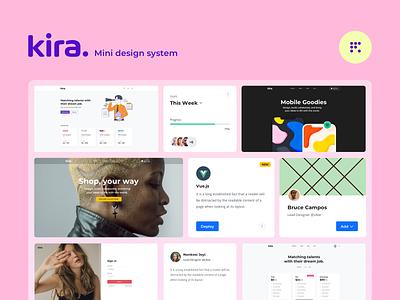 Kira - Mini Design System 🧠 layout design webdesign layouts design systems uiux ux design ui kit ui  ux ui design ui design system