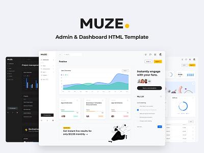 Introducing Muze Admin & Dashboard HTML Template design systems ui kit uiux design system ui  ux ui design ui webdesign bootstrap admin admin dashboard admin template admin design bootstrap