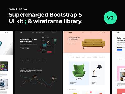 UI Kit Pro for Bootstrap 5 // V3 theme template ecommerce graphic design html web design ux uiux ui  ux ui design system ui design ui kit bootstrap