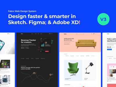 FABRX WEB DESIGN SYSTEM // V3 adobe xd sketch figma ux uiux ui  ux design system ui kit ui design ui