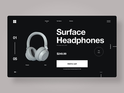 Minimalistic Webshop For Headphones