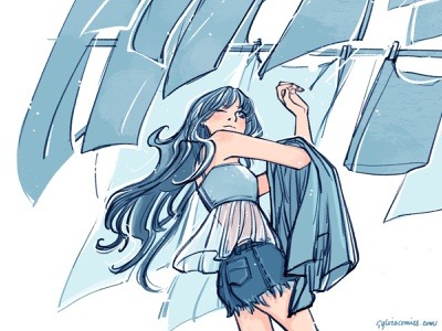 20200906 laundry day procreate ink procreate app inking design characterdesign graphicnovel illustration comics
