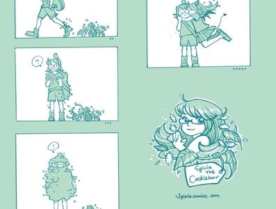 20200920 Cocklebur procreate app procreate inktober inking design characterdesign graphicnovel illustration comics