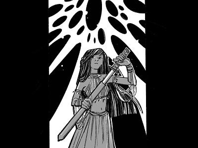 Swordtember / Sun procreate app procreate inking design characterdesign graphicnovel illustration comics swordtember sword