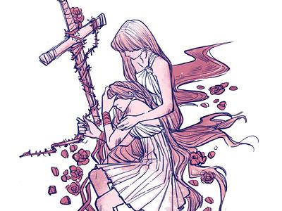 Swordtember / Thorn poster procreate app procreate inking design characterdesign graphicnovel illustration comics swordtember sword
