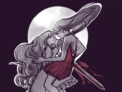 Swordtember / elegant x powerful cover art procreate app procreate inking design characterdesign graphicnovel illustration swordtember sword comics