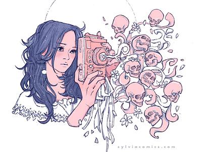 Camera inking design characterdesign graphicnovel illustration comics