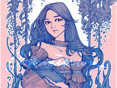 """""""Wisteria"""" cover art cover design illustration characterdesign design inktober inktober2019 inking commission comics portrait"""