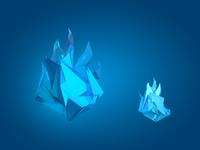 Polygonal flame crystals