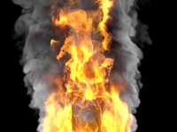Fire and smoke simulation