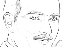 Line work for portrait