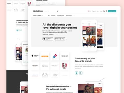 App Landing Page ux ui web design student beans chris weston app landing page