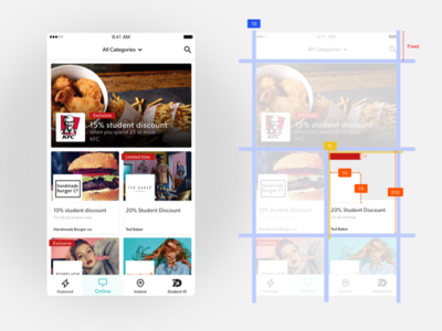 Listing Page Spec sketch app android ios app student discounts college app spec listing chris weston