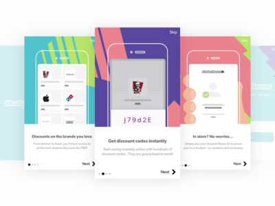 Onboarding Screens parallax chris weston student beans android ios app onboarding