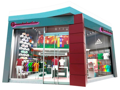 Sports Shop 3d Model and Render
