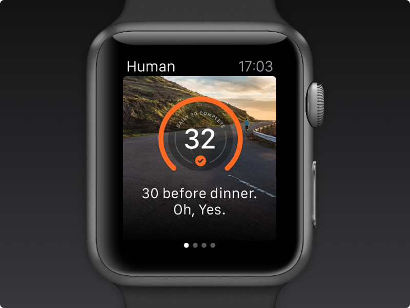Human for Apple Watch apple watch human activity sport wallpaper daily30 motivation progress
